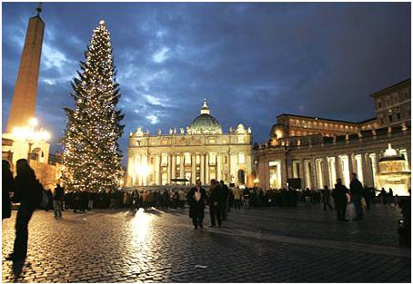 St. Peter's Square on Christmas Eve
